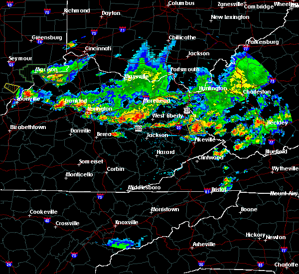 Radar Image for Severe Thunderstorms near Williamson, WV at 6/30/2015 7:52 PM EDT