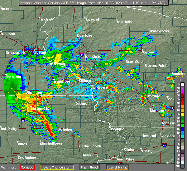 Radar Image for Severe Thunderstorms near Rudd, IA at 7/9/2020 12:15 PM CDT