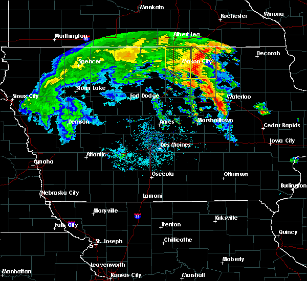 Radar Image for Severe Thunderstorms near Northwood, IA at 7/9/2020 12:30 PM CDT