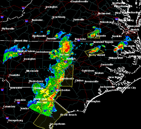 Radar Image for Severe Thunderstorms near Warrenton, NC at 6/30/2015 7:52 PM EDT