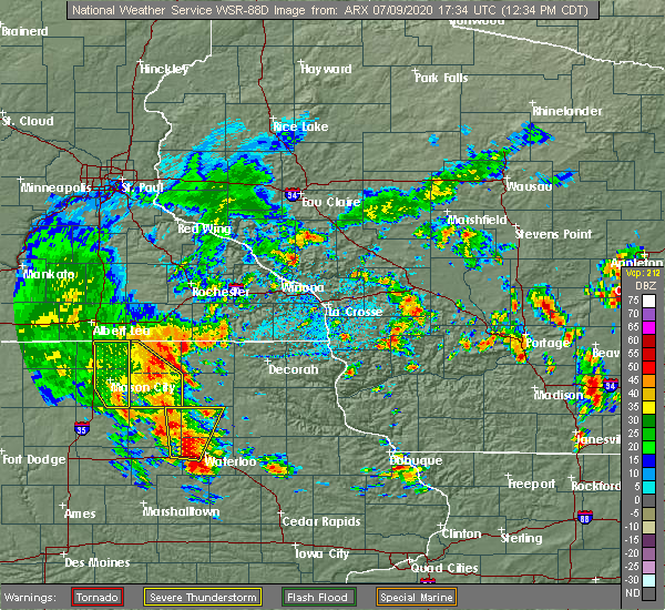 Radar Image for Severe Thunderstorms near Rudd, IA at 7/9/2020 12:41 PM CDT