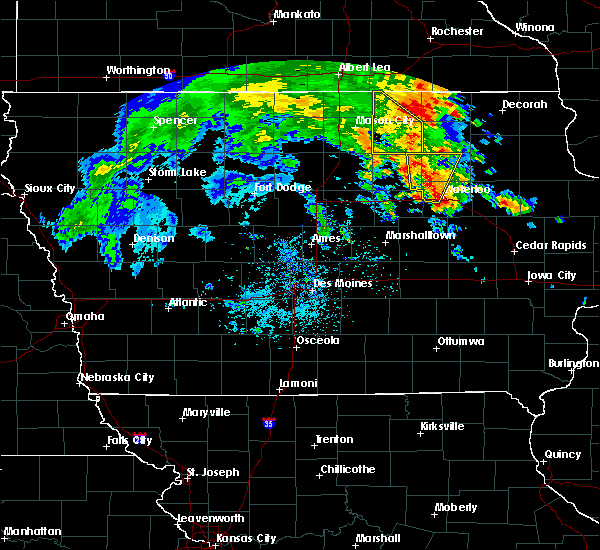 Radar Image for Severe Thunderstorms near Frederika, IA at 7/9/2020 12:56 PM CDT