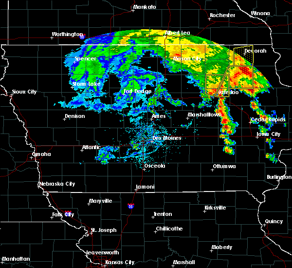 Radar Image for Severe Thunderstorms near Frederika, IA at 7/9/2020 1:58 PM CDT