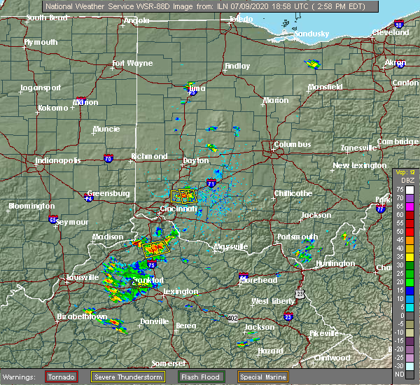 Radar Image for Severe Thunderstorms near Landen, OH at 7/9/2020 3:05 PM EDT