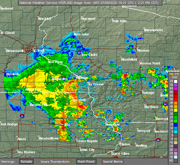 Radar Image for Severe Thunderstorms near Westgate, IA at 7/9/2020 2:23 PM CDT