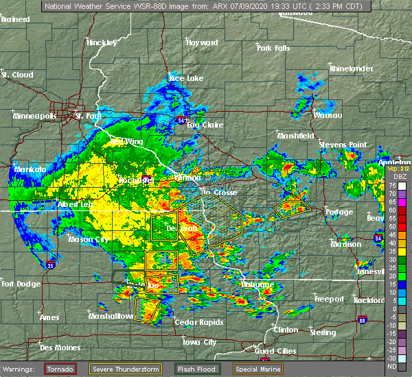 Radar Image for Severe Thunderstorms near Westgate, IA at 7/9/2020 2:41 PM CDT