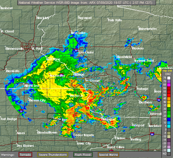 Radar Image for Severe Thunderstorms near Eitzen, MN at 7/9/2020 3:05 PM CDT