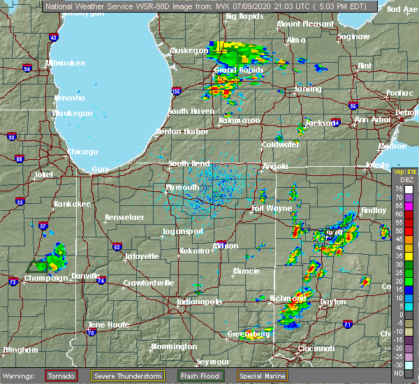 Radar Image for Severe Thunderstorms near Delphos, OH at 7/9/2020 5:07 PM EDT