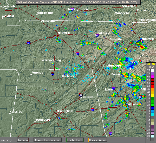 Radar Image for Severe Thunderstorms near Ellijay, GA at 7/9/2020 5:47 PM EDT