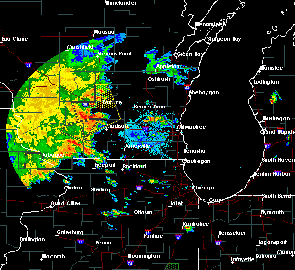 Radar Image for Severe Thunderstorms near Madison, WI at 7/9/2020 5:12 PM CDT