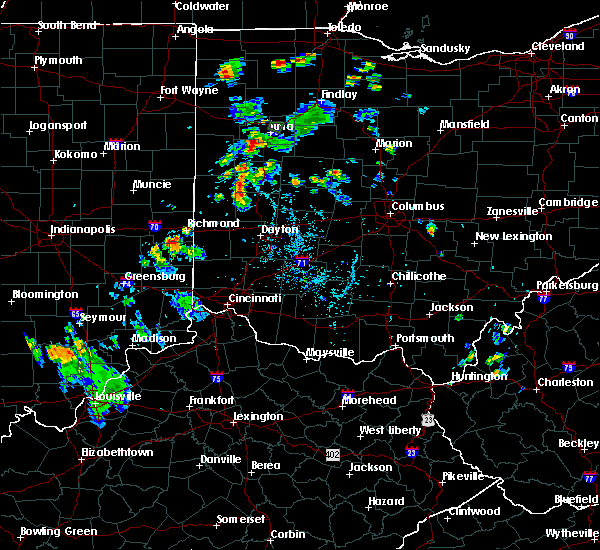 Radar Image for Severe Thunderstorms near Elida, OH at 7/9/2020 6:15 PM EDT