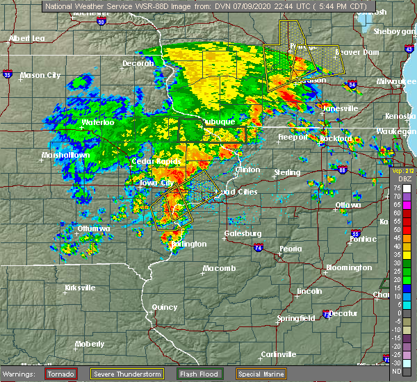 Radar Image for Severe Thunderstorms near Atalissa, IA at 7/9/2020 5:53 PM CDT