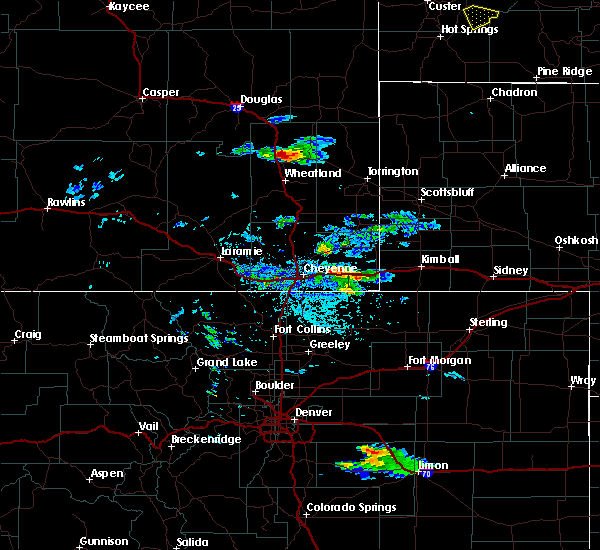 Radar Image for Severe Thunderstorms near Fort Laramie, WY at 7/9/2020 4:57 PM MDT