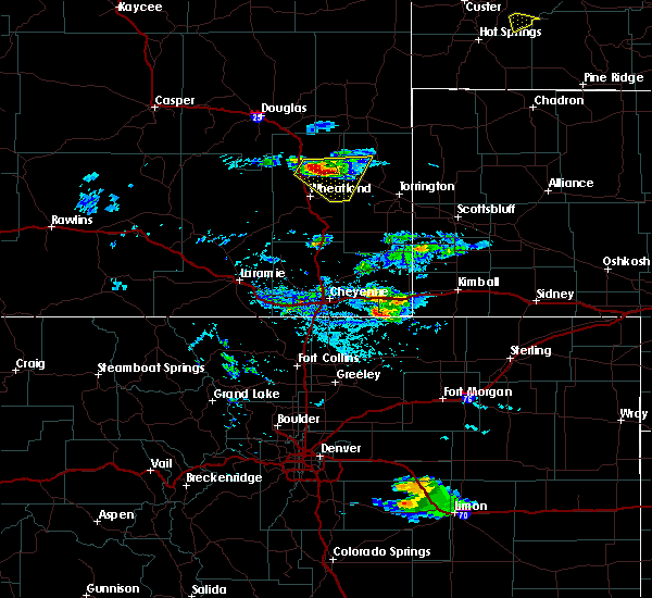 Radar Image for Severe Thunderstorms near Fort Laramie, WY at 7/9/2020 5:11 PM MDT