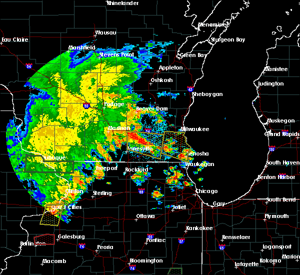 Radar Image for Severe Thunderstorms near Jefferson, WI at 7/9/2020 7:02 PM CDT