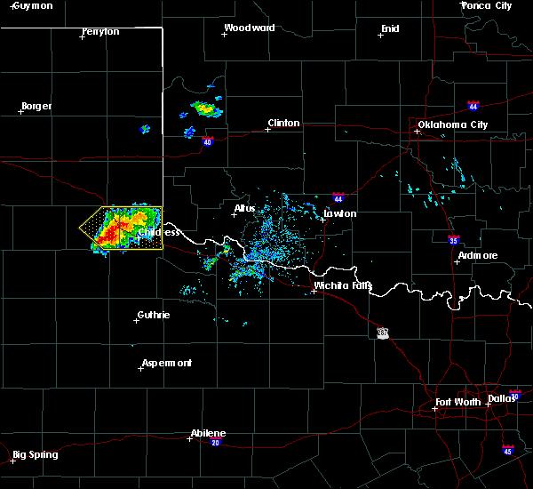 Radar Image for Severe Thunderstorms near Estelline, TX at 7/9/2020 7:20 PM CDT