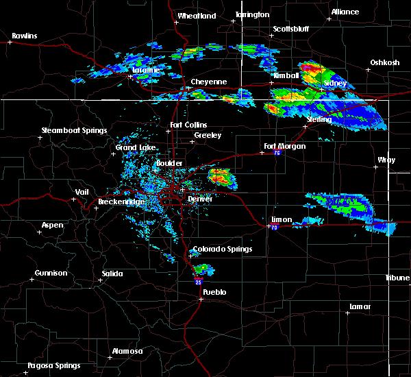Radar Image for Severe Thunderstorms near Wiggins, CO at 7/9/2020 6:42 PM MDT