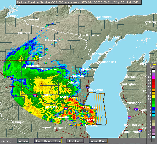 Radar Image for Severe Thunderstorms near Fredonia, WI at 7/9/2020 7:56 PM CDT