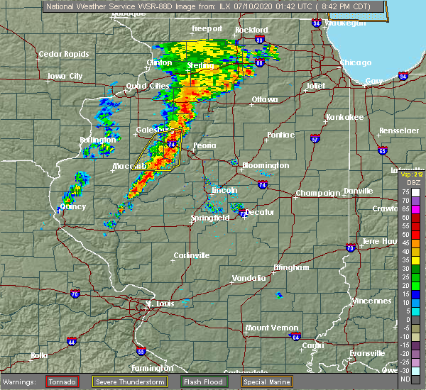 Radar Image for Severe Thunderstorms near Havana, IL at 7/9/2020 8:44 PM CDT