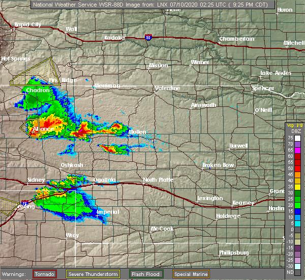 Radar Image for Severe Thunderstorms near Hyannis, NE at 7/9/2020 8:31 PM MDT