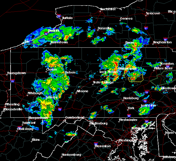 Radar Image for Severe Thunderstorms near Danville, PA at 6/30/2015 8:18 PM EDT