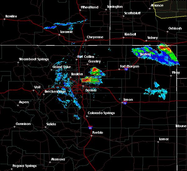 Radar Image for Severe Thunderstorms near Jackson Lake, CO at 7/9/2020 8:54 PM MDT