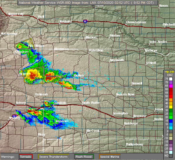 Radar Image for Severe Thunderstorms near Hyannis, NE at 7/9/2020 8:54 PM MDT
