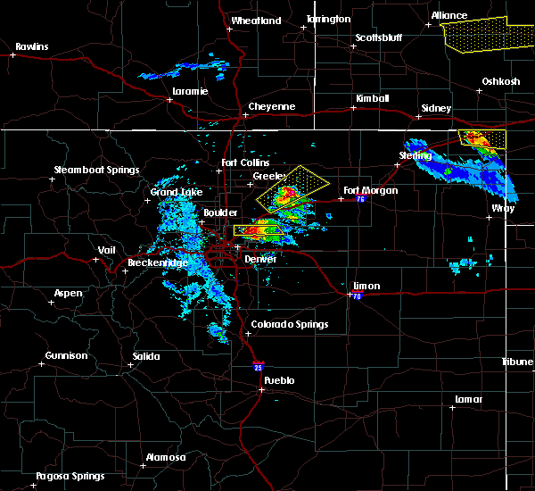 Radar Image for Severe Thunderstorms near Denver, CO at 7/9/2020 9:10 PM MDT