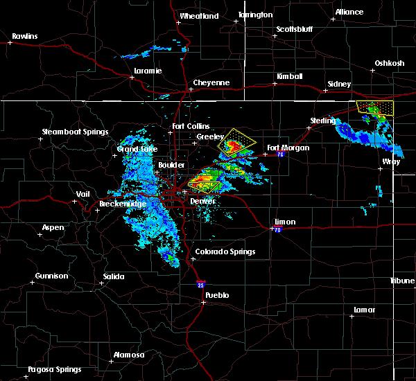 Radar Image for Severe Thunderstorms near Jackson Lake, CO at 7/9/2020 9:18 PM MDT