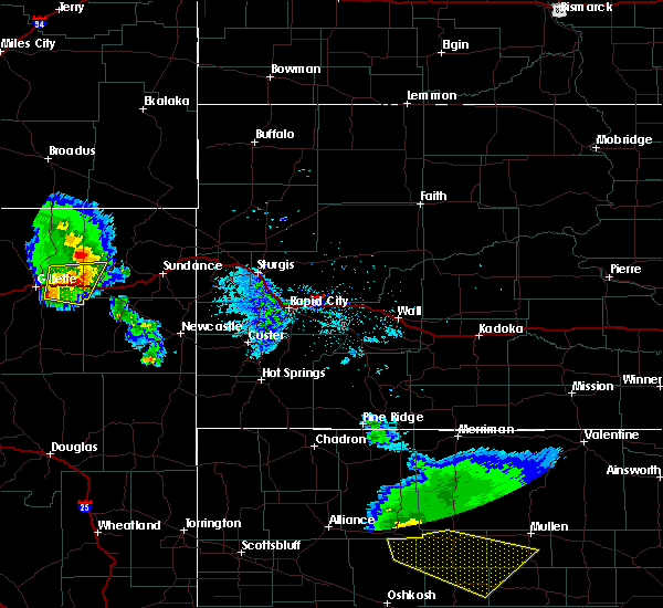 Radar Image for Severe Thunderstorms near Sleepy Hollow, WY at 7/9/2020 9:28 PM MDT