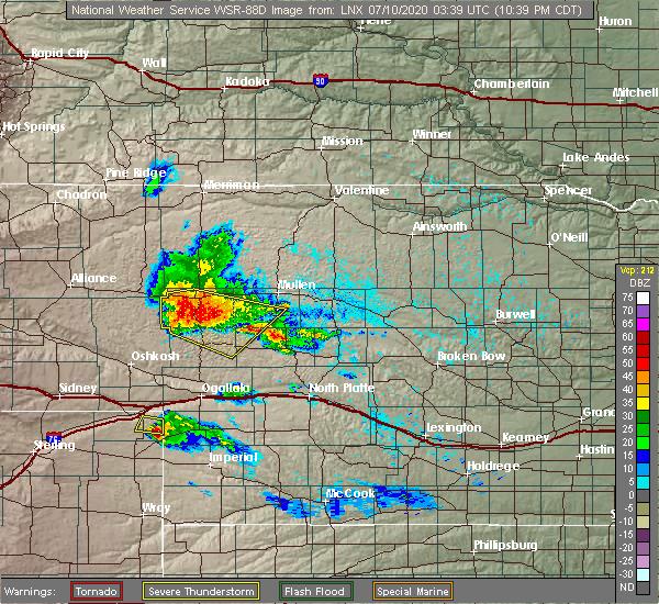 Radar Image for Severe Thunderstorms near Hyannis, NE at 7/9/2020 9:45 PM MDT