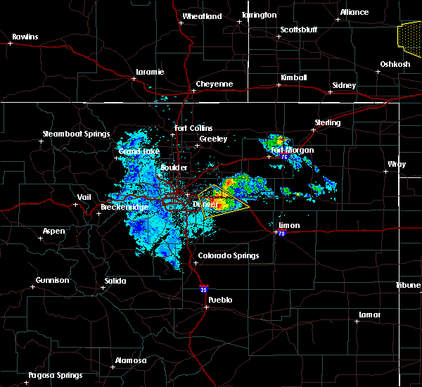 Radar Image for Severe Thunderstorms near Strasburg, CO at 7/9/2020 10:05 PM MDT