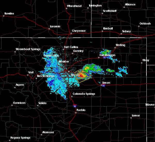 Radar Image for Severe Thunderstorms near Comanche Creek, CO at 7/9/2020 10:12 PM MDT