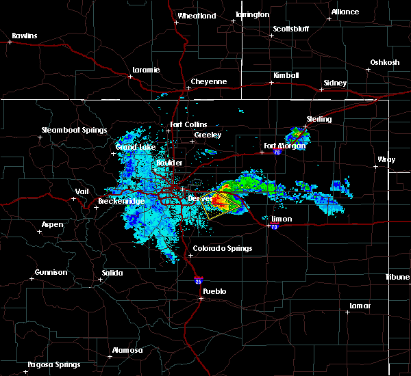 Radar Image for Severe Thunderstorms near Comanche Creek, CO at 7/9/2020 10:27 PM MDT