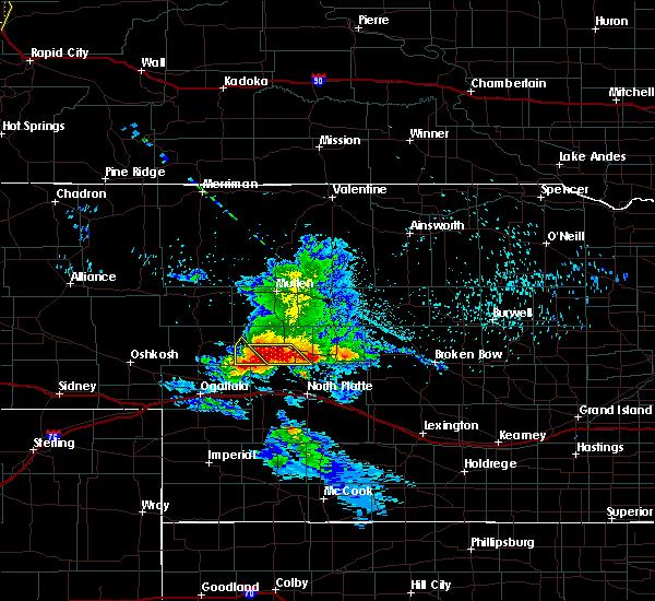 Radar Image for Severe Thunderstorms near Maxwell, NE at 7/9/2020 11:49 PM CDT