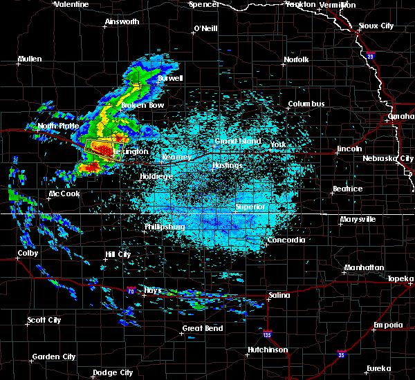 Radar Image for Severe Thunderstorms near Odessa, NE at 7/10/2020 1:42 AM CDT