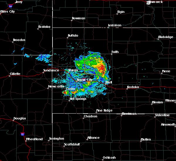 Radar Image for Severe Thunderstorms near Custer, SD at 7/10/2020 12:46 AM MDT