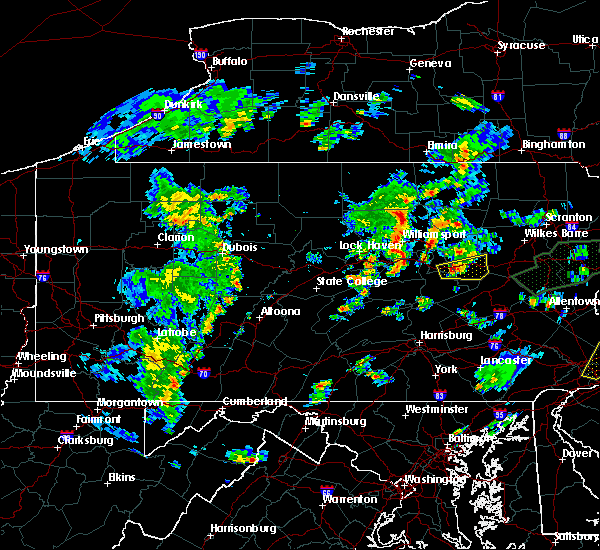 Radar Image for Severe Thunderstorms near Briar Creek, PA at 6/30/2015 8:26 PM EDT