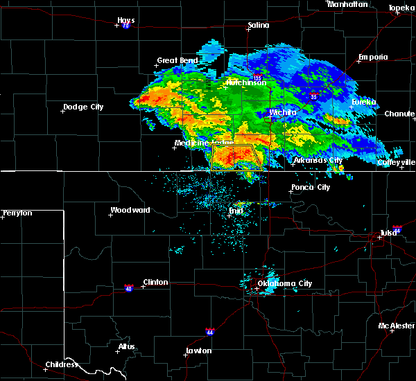 Radar Image for Severe Thunderstorms near Mayfield, KS at 7/10/2020 6:37 AM CDT