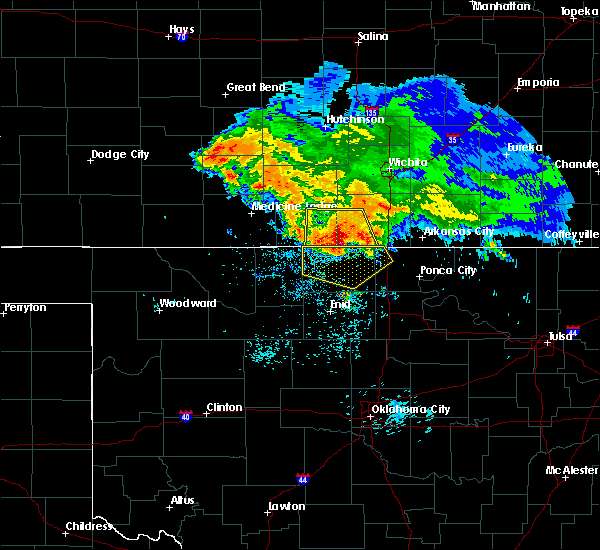Radar Image for Severe Thunderstorms near Medford, OK at 7/10/2020 6:52 AM CDT
