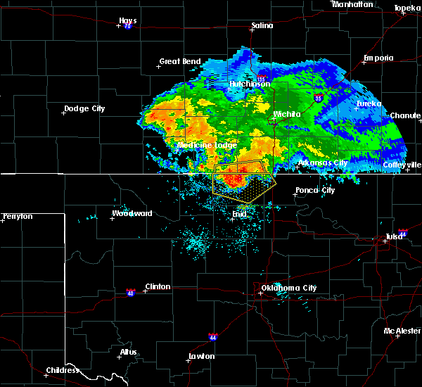 Radar Image for Severe Thunderstorms near Bluff City, KS at 7/10/2020 7:00 AM CDT