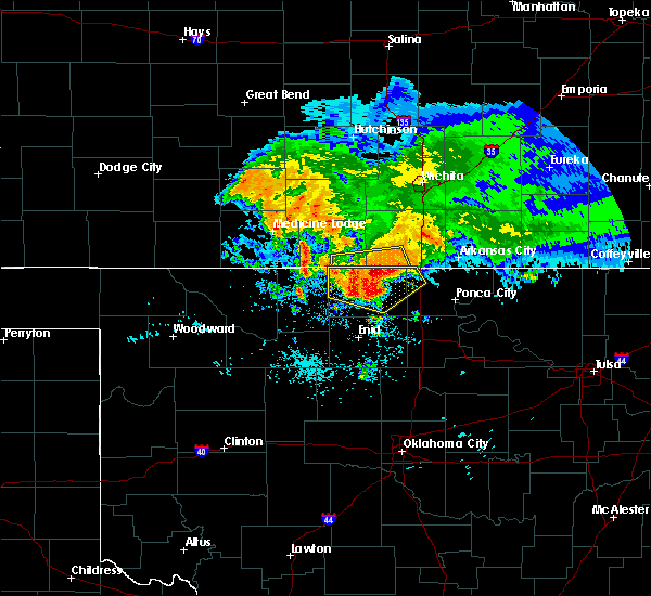 Radar Image for Severe Thunderstorms near Tonkawa, OK at 7/10/2020 7:16 AM CDT
