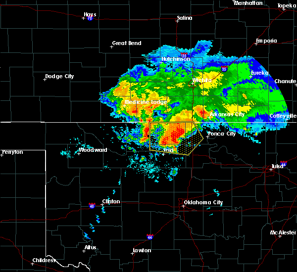 Radar Image for Severe Thunderstorms near Tonkawa, OK at 7/10/2020 7:38 AM CDT