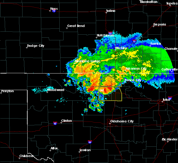 Radar Image for Severe Thunderstorms near Billings, OK at 7/10/2020 8:07 AM CDT