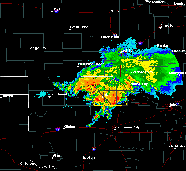 Radar Image for Severe Thunderstorms near Billings, OK at 7/10/2020 8:32 AM CDT
