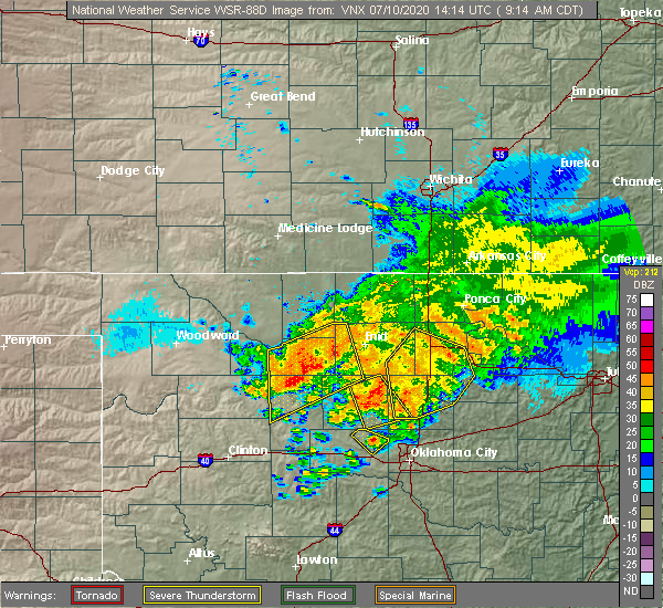 Radar Image for Severe Thunderstorms near Carrier, OK at 7/10/2020 9:23 AM CDT