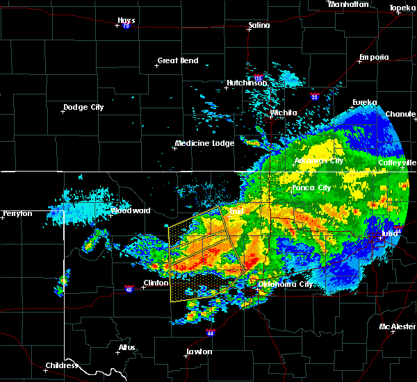 Radar Image for Severe Thunderstorms near Hennessey, OK at 7/10/2020 9:51 AM CDT