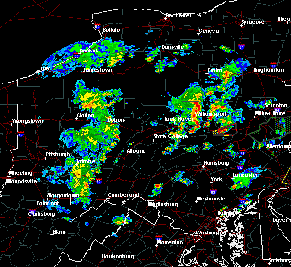 Radar Image for Severe Thunderstorms near Briar Creek, PA at 6/30/2015 8:28 PM EDT