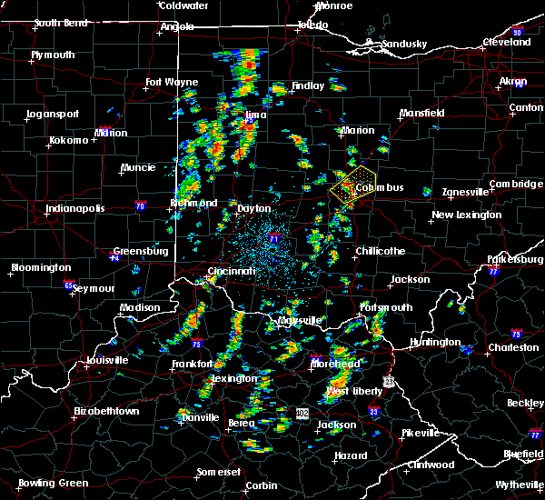 Radar Image for Severe Thunderstorms near Minerva Park, OH at 7/10/2020 12:15 PM EDT