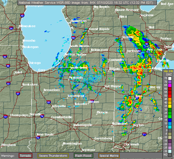 Radar Image for Severe Thunderstorms near Cairo, OH at 7/10/2020 12:35 PM EDT